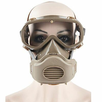 Safety Mask Industrial Gas Chemical Anti-dust Paint Respirator Mask Goggles Set