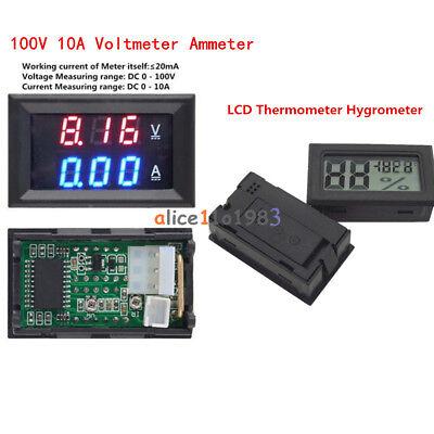 Dc 100v 10a Voltmeter Ammeter Blue Red Led Amp Dual Digital Volt Amp Meter