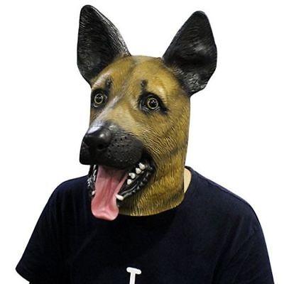 Novelty Halloween PartyMasquerade Parties Latex Buck German Shepherd Dog - German Shepherd Mask
