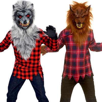Werewolf Boys Fancy Dress Halloween Animal Scary Spooky Kids Childrens - Spooky Kids Kostüm