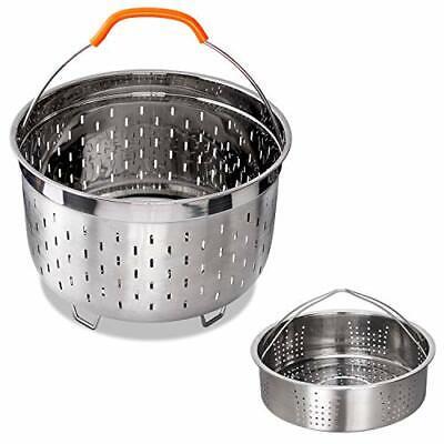 Stainless Steel Steamer Basket Instant Pot 6Qt 8Qt Steam Insert Silver Accessory