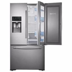 "Réfrigérateur 22.5 pi³ "" NEUF ""Stainless Samsung ( RF23HTEDBSR )"