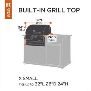 Grill Top Cover Hickory Heavy Patio Built In Bbq Clic Accessories X Small Tan