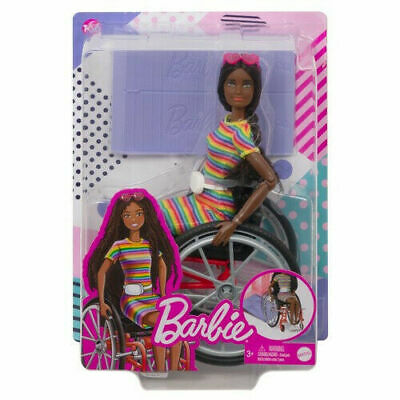 Barbie Fashionistas 166 Brunette in Wheelchair BRAND NEW