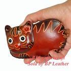 Leather Cat Purse