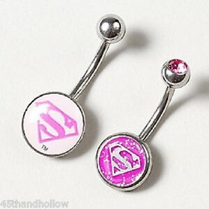 Details about DC Comics Superwoman Navel Ring Supergirl Body Jewelry ...
