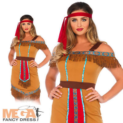Native Indian Princess Ladies Fancy Dress Adults Wonderland Leg Avenue - Native Indian Princess Kostüm