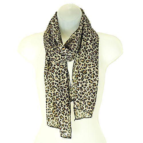 Leopard Print Head Scarf