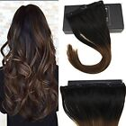 One Piece Black Clip - In Hair Extensions