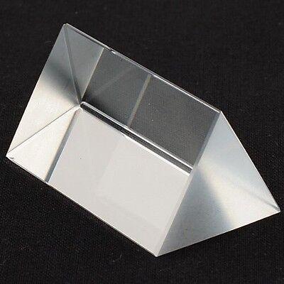 2.5 In Optical Glass Triangular Prism Teaching Light Spectrum Physics Usa Seller