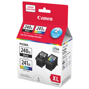 Canon® PG-240XL Black /C241XL Color High Yield, Ink Cartridges,