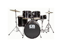 CB Drum Kit & practice pads, ideal for beginners. Never used in a band or gigged with, just practice