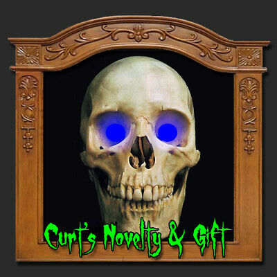 LED BLUE EYES HALLOWEEN PROP Crank Ghost Mask - Ghost Eyes Halloween