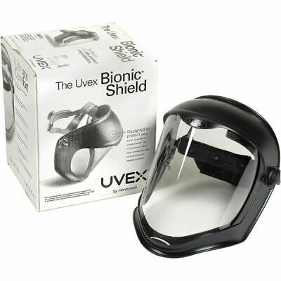UVEX BIONIC FACE SHIELD BY HONEYWELL WITH CLEAR POLYCARBONATE VISOR NEW! (S8500)