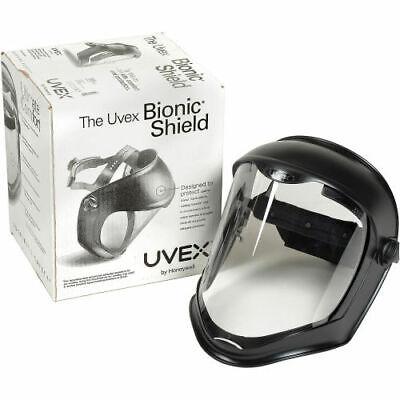 Honeywell Uvex Bionic Face Shield Clear Visor Matte Black Frame New S8500