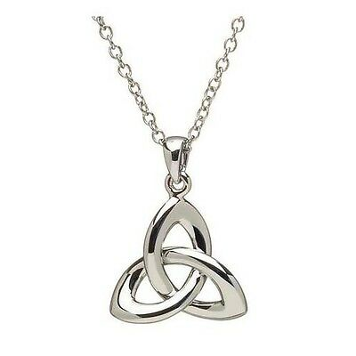 """Shanore Sterling Silver Trinity Knot 3D Pendant Irish on 18"""" Chain Boxed"""
