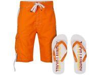 "Joblot (48 packs) of ""Tokyo Laundry"" Brand new/unused/unpacked beach shorts + flip flops packs"
