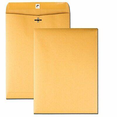 100 Business Envelopes 9x12 Kraft Clasp Yellow Brown Postal Manila Catalog Flaps
