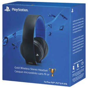 PlayStation 4 Gold Wireless Stereo Headset brand new in box