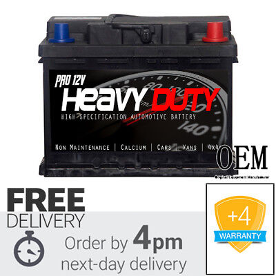 PROFESSIONAL 12v HEAVY DUTY 075 Car Battery  Van Battery 60ah