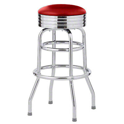 Classic 50's Diner Bar Stools - $85/ea - Red - Retro Style - New ()