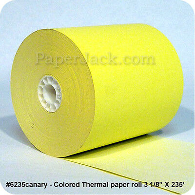 "#6235canary, CANARY Thermal Paper Rolls, 3 1/8"" x 235"