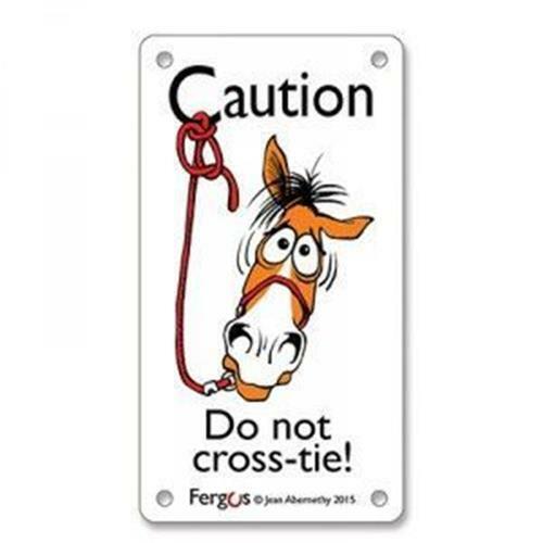 "Fergus Stall Sign - ""Do Not Crosstie"""