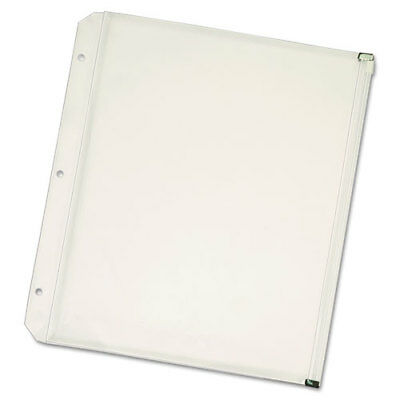 Cardinal Zippered Binder Pockets, 8.5 x 11 Inches, Clear, 3