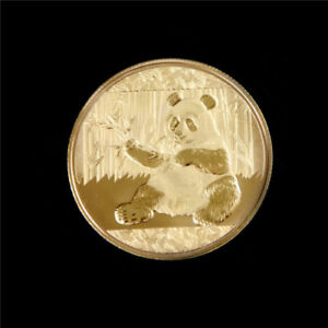 Chinese Panda gold plated copper round