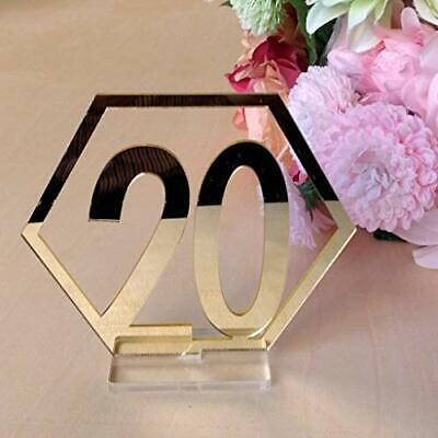 Velidy Table Numbers1-20Wedding Acrylic Standing Table Numbers with Holder Ba...