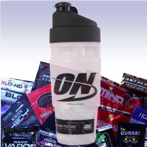 OPTIMUM NUTRITION SHAKER CUP 2 FREE SAMPLES blender energy whey bottle amino