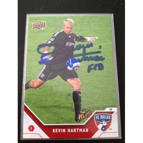Dallas FC Kevin Hartman Signed Autographed 2011 Upper Deck UD MLS Card