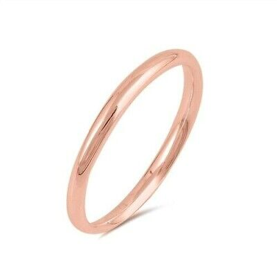 Toe Ring Genuine Sterling Silver 925 Rose Gold Plated Width 2MM Selectable