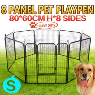 Heavy Duty 8 Panel Pet Playpen Portable Cage Different Size