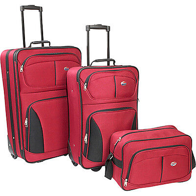 American Tourister Fieldbrook 3 Piece Luggage Set - Red on Rummage