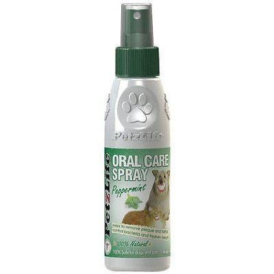 PETZLIFE Oral SPRAY Care Cat Dog Tooth Paste Puppy Dental Care for Dogs 4oz ()