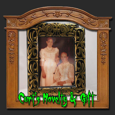 LENTICULAR HALLOWEEN PORTRAIT SISTERS TO SKELETONS GLD - Lenticular Halloween Portraits