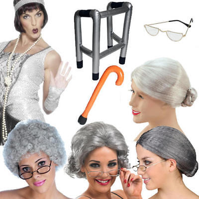 Old People Adults Costume Accessories Hen Stag Party Mens Ladies Fancy Dress New