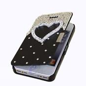 iPhone 4 Black Leather Hard Case