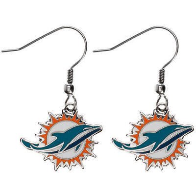 Miami Dolphins NFL Logo Wire Earrings - New in Package