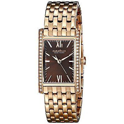 Caravelle New York Women\s 44L120 Analog Rose Gold Dress Watch