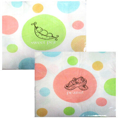 BABY SHOWER Sweet Pea LUNCH NAPKINS (16) ~ Party Supplies Serviettes Dinner Cute