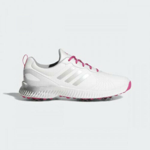 NEW Adidas Womens Response Bounce Golf Shoes White / Silver Size 10 M