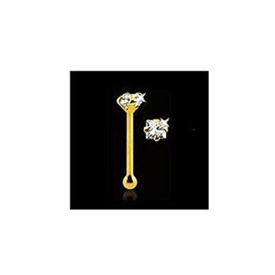10K SOLID GOLD nose bone pin ring Rings stud Square 1.8