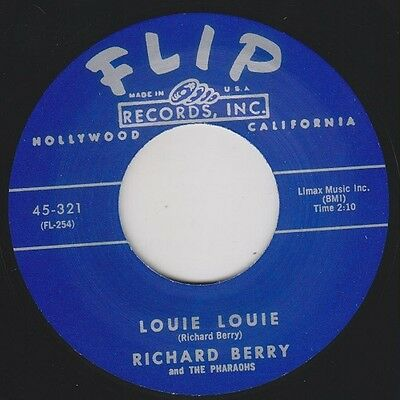 "RICHARD BERRY Louie Louie / Have Love Will Travel FLIP 7"" Reissue Class R&B HEAR"