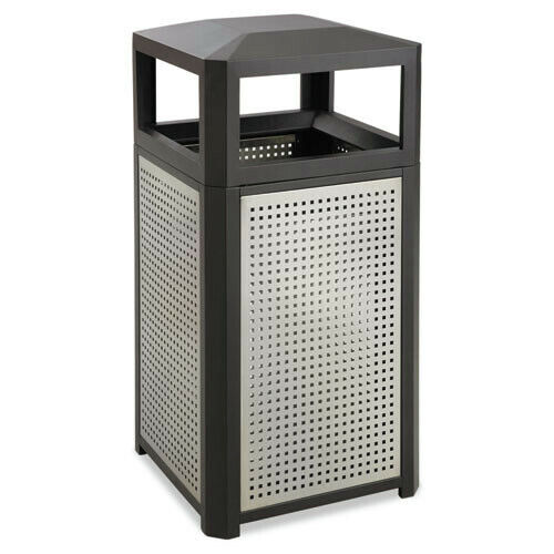 Safco 9932BL Evos Series 15 gal Waste Container - BLK New