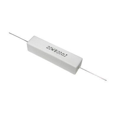 Lot Of 50 Sqp20w600ej Ty-ohm Resistor 600 Ohm 20w 5 Sand Stone