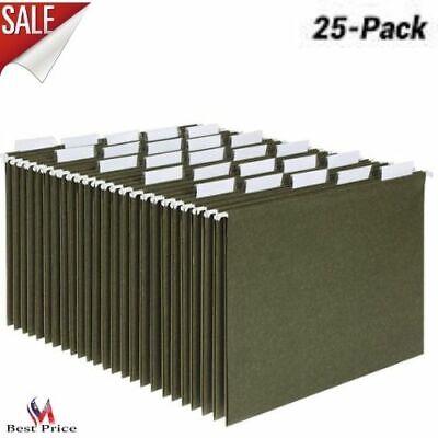 Folder Hanger Hanging Organizer File Cabinet Legal Letter Size Green 25 Pack