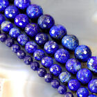 Lapis Lazuli Round Faceted Loose Stone Beads