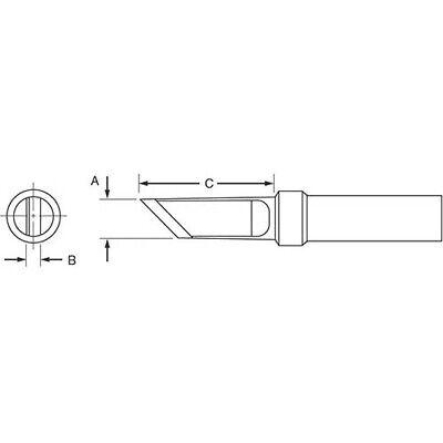 Weller Etkn .180x.064x.625 Et Series Knife Tip